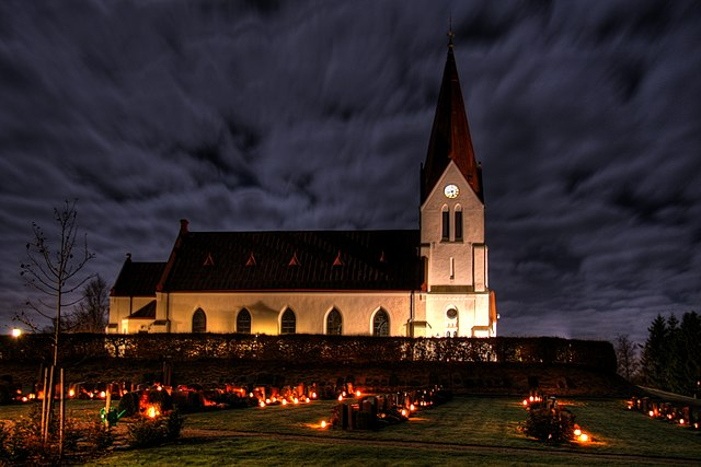 Lutheran Church in Sweden at Allhallowtide